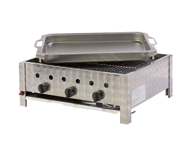 Bräter Für Gasgrill : Pag k gastronomie bräter flammig mit grillrost und stahlblechpfanne