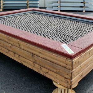 trampolin ellipse saturnus zum einbauen spielplatz. Black Bedroom Furniture Sets. Home Design Ideas