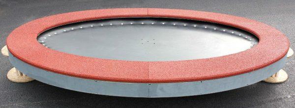 Produktfoto ebenerdiges Trampolin Saturnus